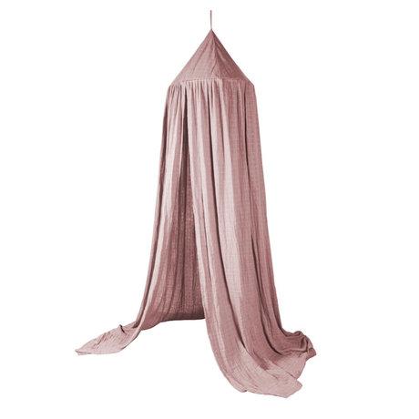 Sebra Mosquito net Canopy blush pink cotton Ø52x240cm