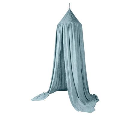 Sebra Moskitonetz Baldachin Eukalyptus blau Baumwolle Ø52x240cm