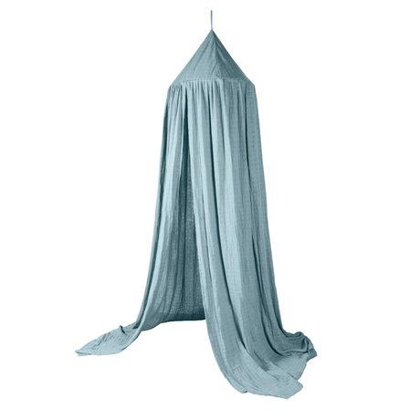 Sebra Mosquito net Canopy eucalyptus blue cotton Ø52x240cm