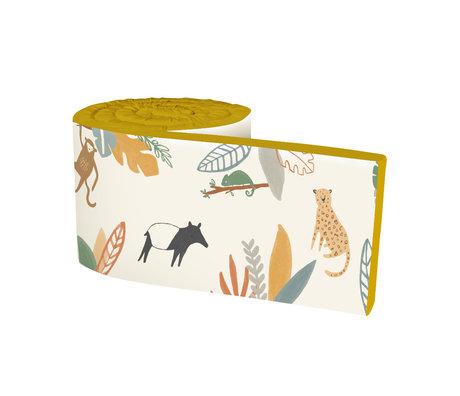 Sebra Bedbumper Baby Wildlife geel multicolour textiel 345x3,5x30cm