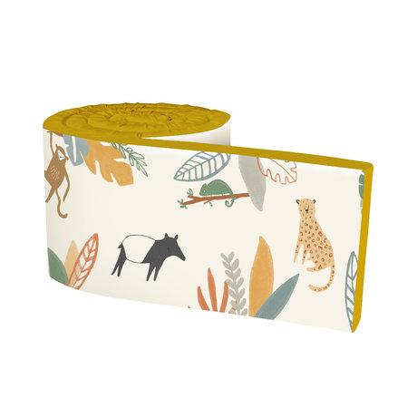 Sebra Bettstoßstange Baby Wildlife gelb mehrfarbig Textil 345x3,5x30cm