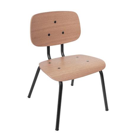 Sebra Chaise mini marron noir bois métal 37x37x57cm