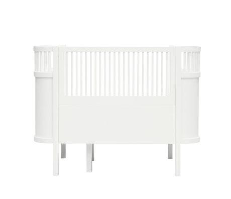 Sebra Lit Bébé & Junior classique bois blanc 115-152x75,8x88cm