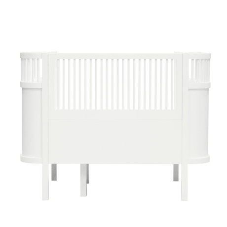 Sebra Bed Baby & Junior classic white wood 115-152x75,8x88cm