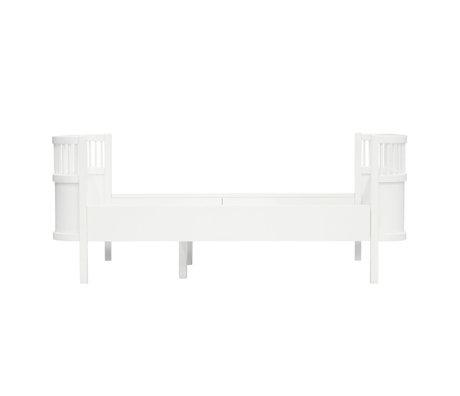 Sebra Bett Junior Grow klassisches weißes Holz 165-204x94x70cm