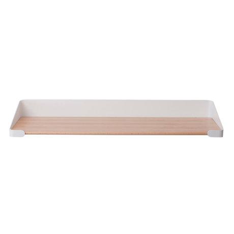 Sebra Wandplank bruin wit hout metaal 60x20,4x9cm