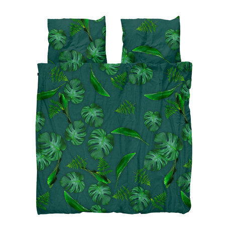 Snurk Beddengoed Housse de couette Green Forest, coton vert 200x200 / 220cm