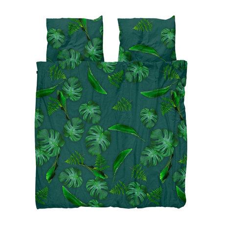Snurk Beddengoed Duvet cover Green Forest green cotton 260x200 / 220cm