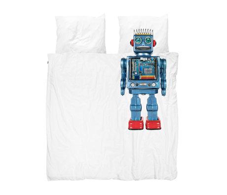 Snurk Beddengoed Housse de couette Robot multicolore en coton 200x200 / 220cm
