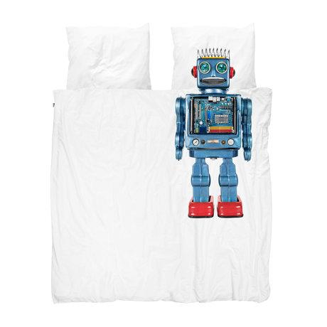 Snurk Beddengoed Dekbdovertrek Robot multicolour katoen 200x200/220cm