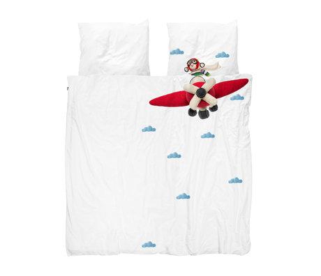 Snurk Beddengoed Bettbezug Airplane Monkey mehrfarbig Baumwolle 240x200 / 220cm