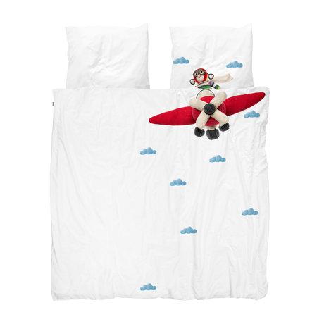 Snurk Beddengoed Bettbezug Airplane Monkey mehrfarbig Baumwolle 260x200 / 220cm