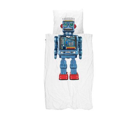 Snurk Beddengoed Dekbdovertrek Robot multicolour katoen 140x200/220cm