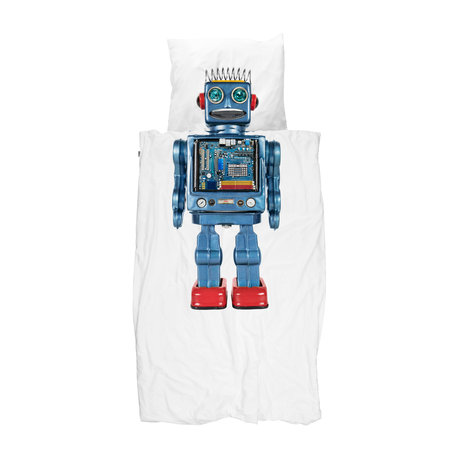 Snurk Beddengoed Bettbezug Robot mehrfarbig Baumwolle 140x200 / 220cm