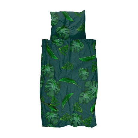 Snurk Beddengoed Dekbedovertrek Green Forest groen katoen 140x200/220cm