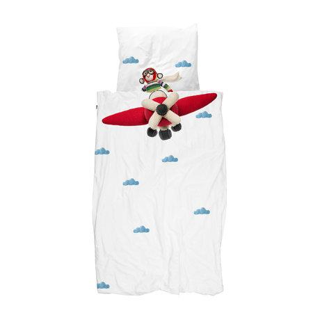 Snurk Beddengoed Bettbezug Airplane Monkey mehrfarbig Baumwolle 100x135cm
