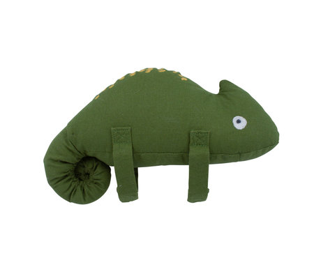 Sebra Music mobile Carley the chameleon green textile 20x15.5cm