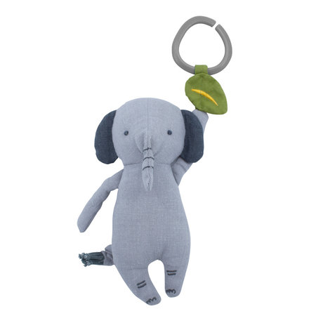 Sebra Mobile musical Finley the Elephant gris clair textile 15,5x20cm