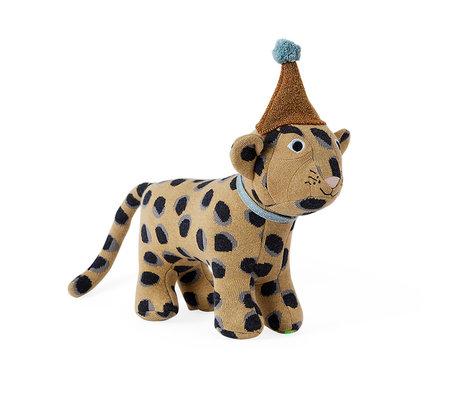 OYOY Hug Baby Elvis Leopard braun Textil 33x27cm