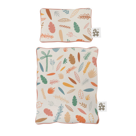 Sebra Beddengoed voor poppenbed Wildlife multicolour textiel 34x28cm