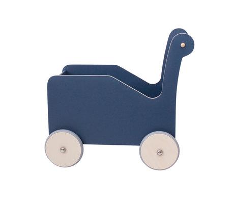 Sebra Trotteur bleu bois 42.2x29x42.7 cm