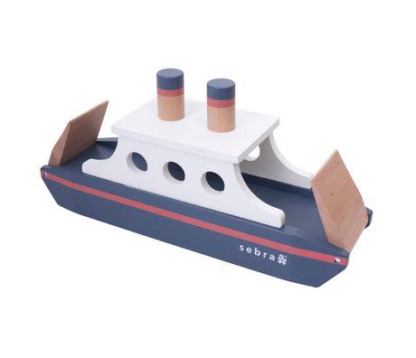 Sebra Toy Ferry multicolour wood 50x14x23.9 cm