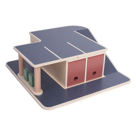 Sebra Toy Garage mehrfarbiges Holz 56x55x15.2cm