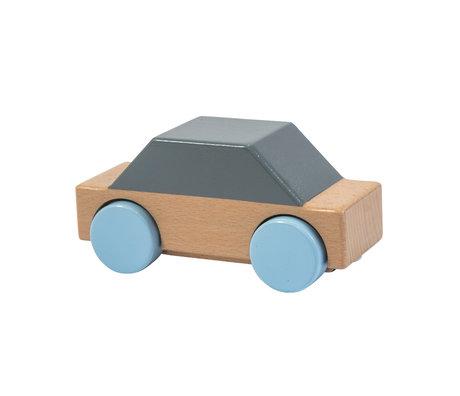 Sebra Voiture gris bois multicolore 14x5.9x6.8 cm