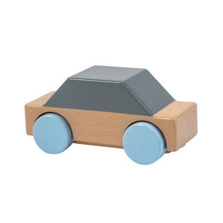 Sebra Auto grijs multicolour hout 14x5,9x6,8cm