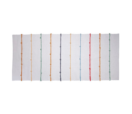 Sebra Vloerkleed Dots wit multicolour textiel 180x80cm