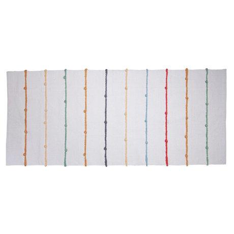 Sebra Tapis Dots blanc multicolore textile 180x80cm