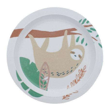 Sebra Kindertafel Wildlife weiß mehrfarbig Melamin Ø21,5x2cm