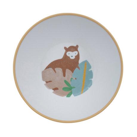 Sebra Kinderkom Wildlife wit multicolour melamine Ø15,5x6cm
