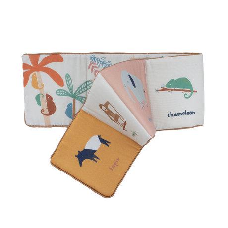 Sebra Stoffenboekje Wildlife multicolour textiel 100x16cm