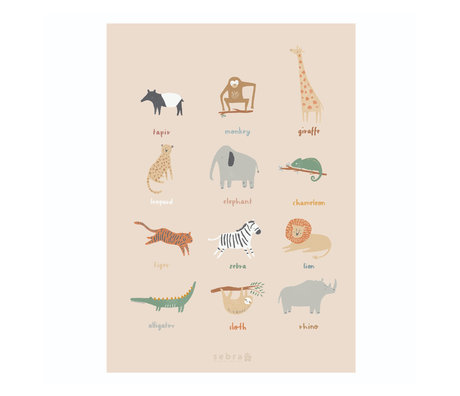 Sebra Poster Wildlife mehrfarbiges Papier 50x70cm