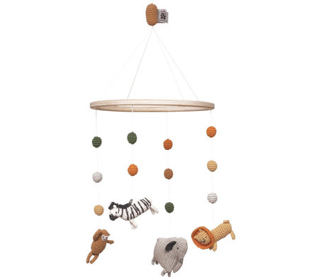 Sebra Mobile Wildlife en bois multicolore Ø22x57cm