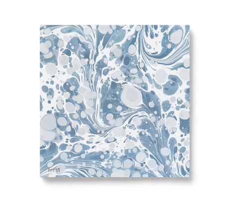 Ferm Living Servetten Dusty blauw multicolour set van 20 stuks 16,5x16,5cm