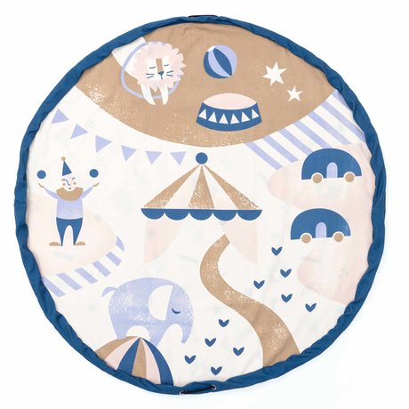 Play & Go opbergzak/speelkleed Circus  multicolour katoen ø140cm