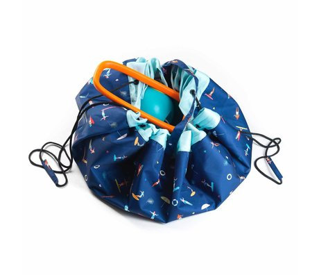 Play & Go sac de rangement / tapis de jeu Outdoor Surf polyester multicolore ø140cm