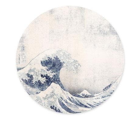 Groovy Magnets Magneetsticker Under the wave blauw zelfklevend vinyl met ijzerdeeltjes Ø60cm