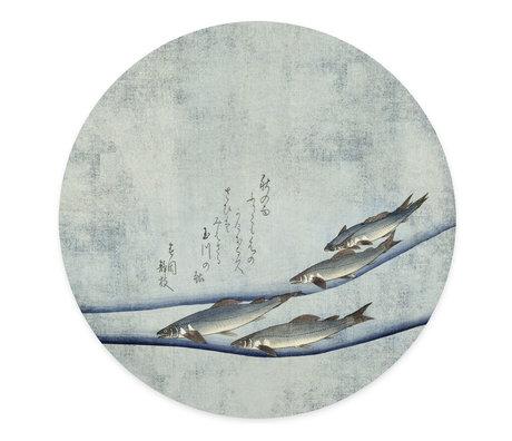 Groovy Magnets Autocollant magnétique La beauté de la truite bleu vinyle autocollant avec des particules de fer Ø60 cm