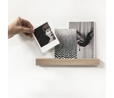 Groovy Magnets Magnetwandregal braun Holz Magnetfolie S 30x3x2cm