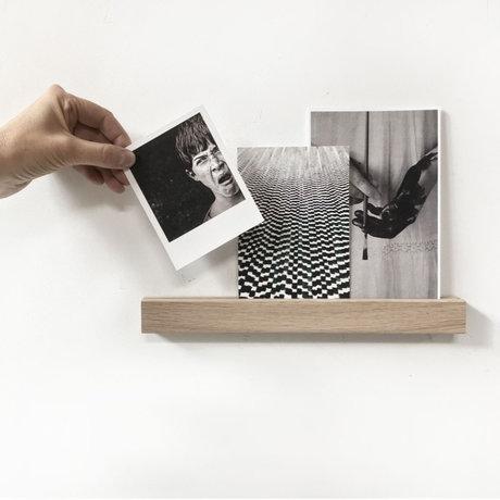 Groovy Magnets Magnetische wandplank bruin hout magneetfolie S 30x3x2cm