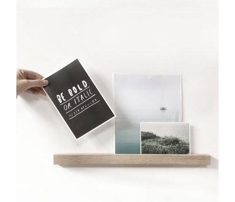 Groovy Magnets Magnetische wandplank bruin hout magneetfolie L 45x3x2cm