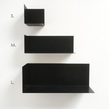 Groovy Magnets Magnetic wall shelf black metal S 8x8x8cm