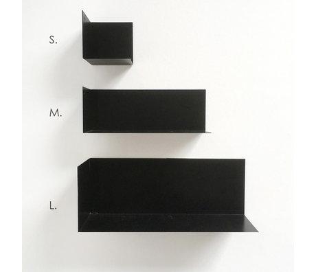 Groovy Magnets Etagère murale magnétique en métal noir M 22x8x8cm