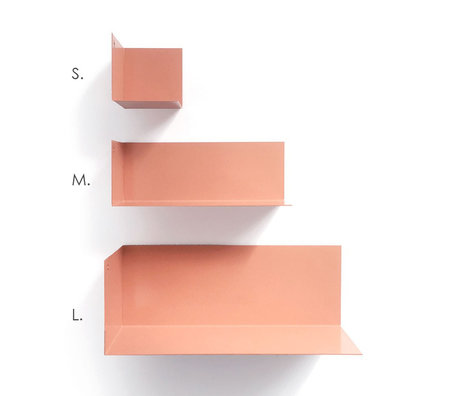 Groovy Magnets Magnetic wall shelf salmon pink metal S 8x8x8cm