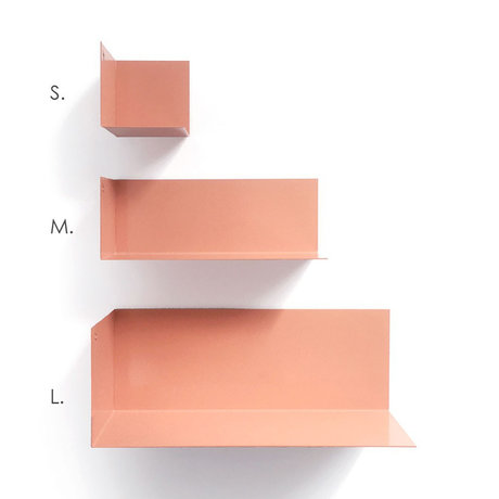 Groovy Magnets Magnetic wall shelf salmon pink metal L 30x11x11cm
