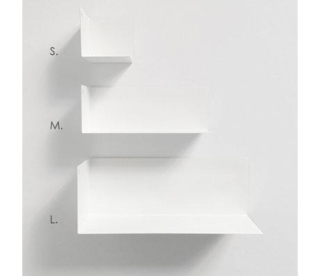 Groovy Magnets Etagère murale magnétique en métal blanc M 22x8x8cm