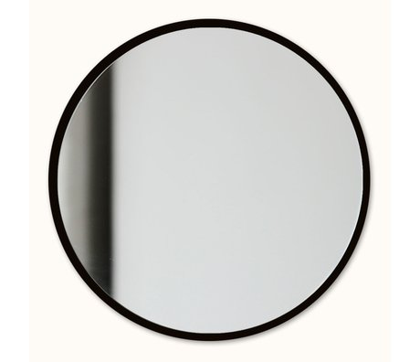 Groovy Magnets Magnetic mirror black mirror glass steel Ø16cm